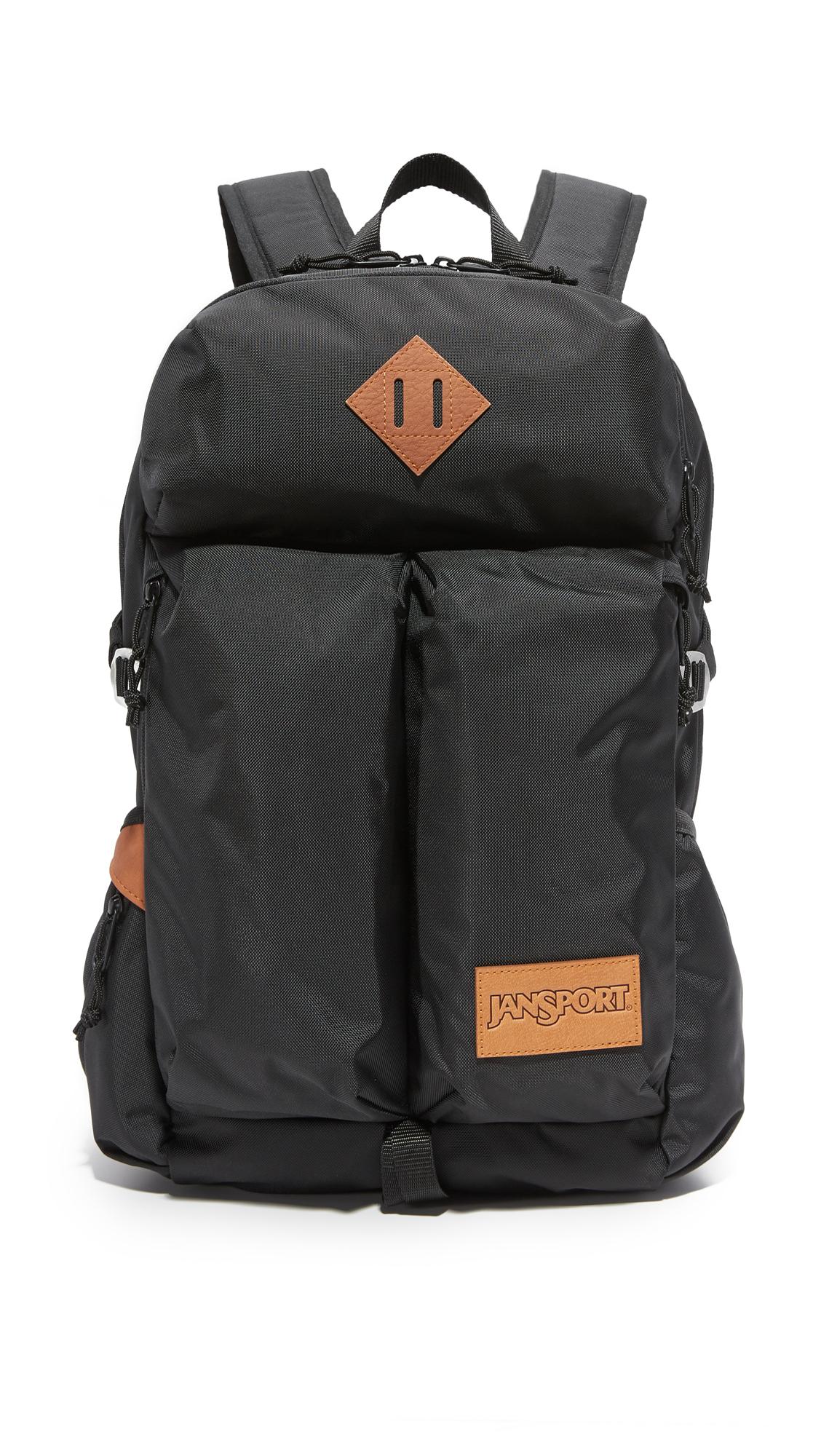Jansport Bishop Ballistic Nylon Backpack In Black For Men