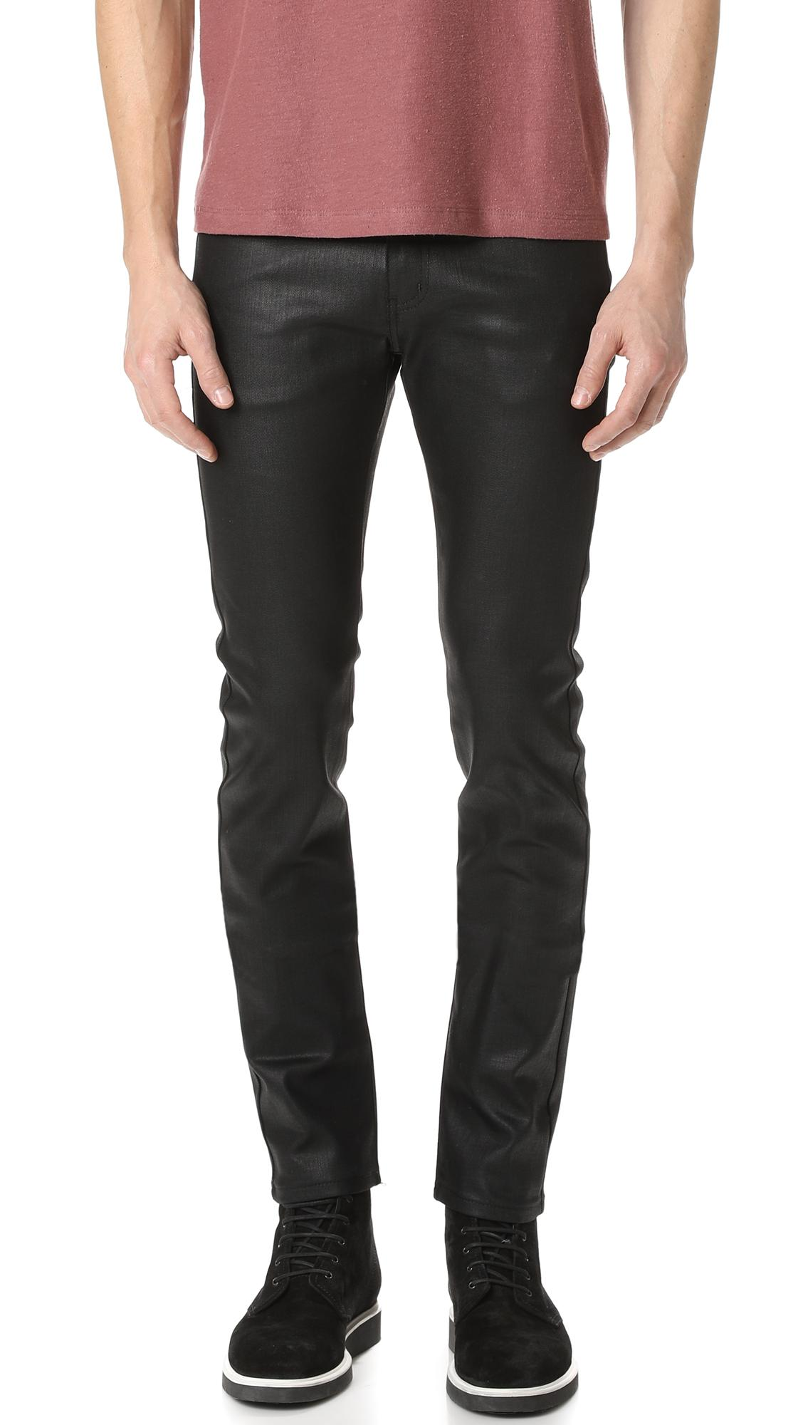 Men's DIESEL Straight-leg jeans More product details Black cotton waxed denim jeans from diesel featuring a concealed zip fastening, belt loops, side seam pockets, rear welt pockets, a leather brand patch to the rear and a slim 24software.ml: $