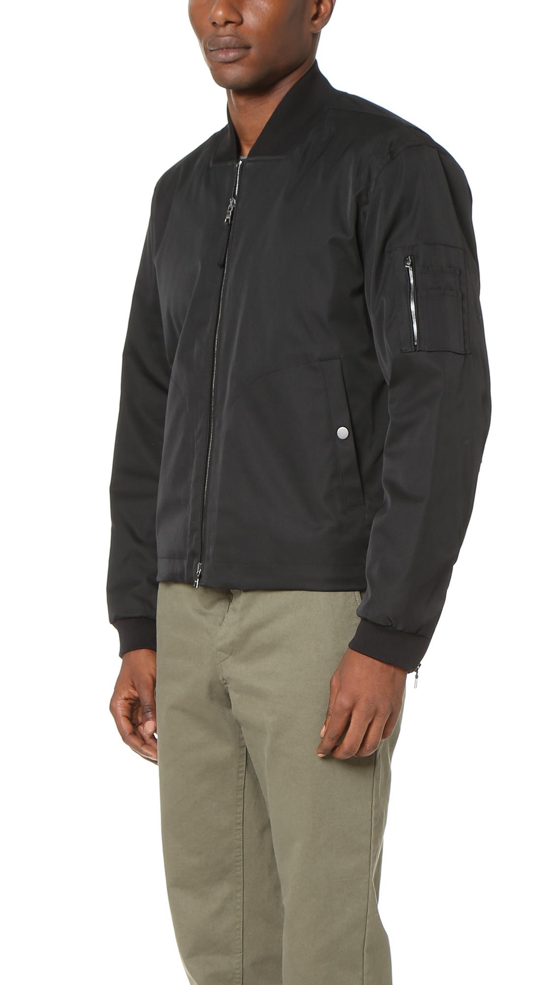 Vince Utility Bomber Jacket In Black For Men Lyst
