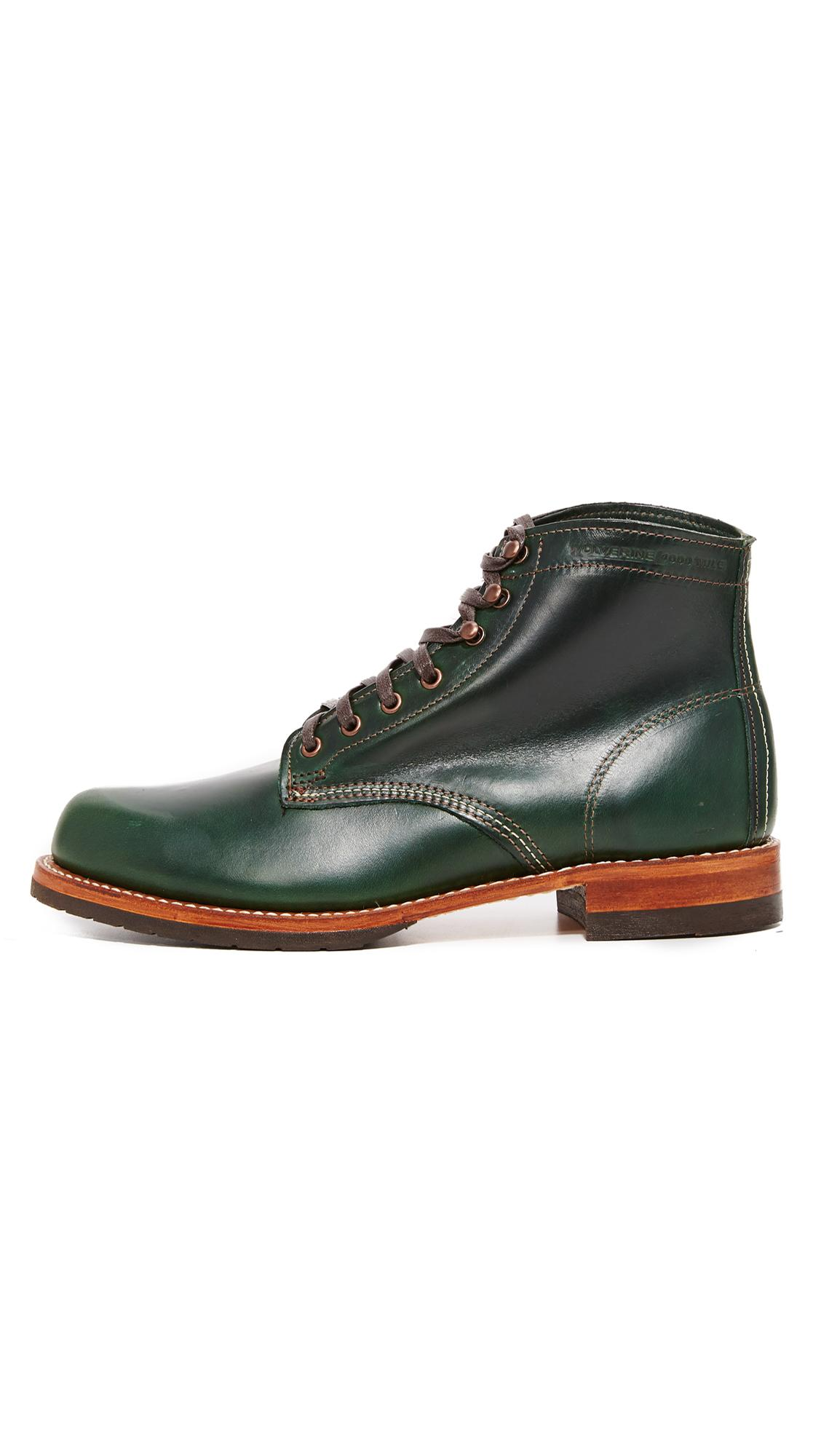 Lyst Wolverine Evans Boots In Green For Men