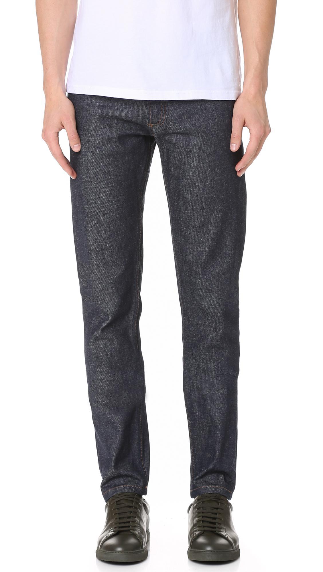 a p c petit new standard indigo jeans in blue save 37 lyst. Black Bedroom Furniture Sets. Home Design Ideas
