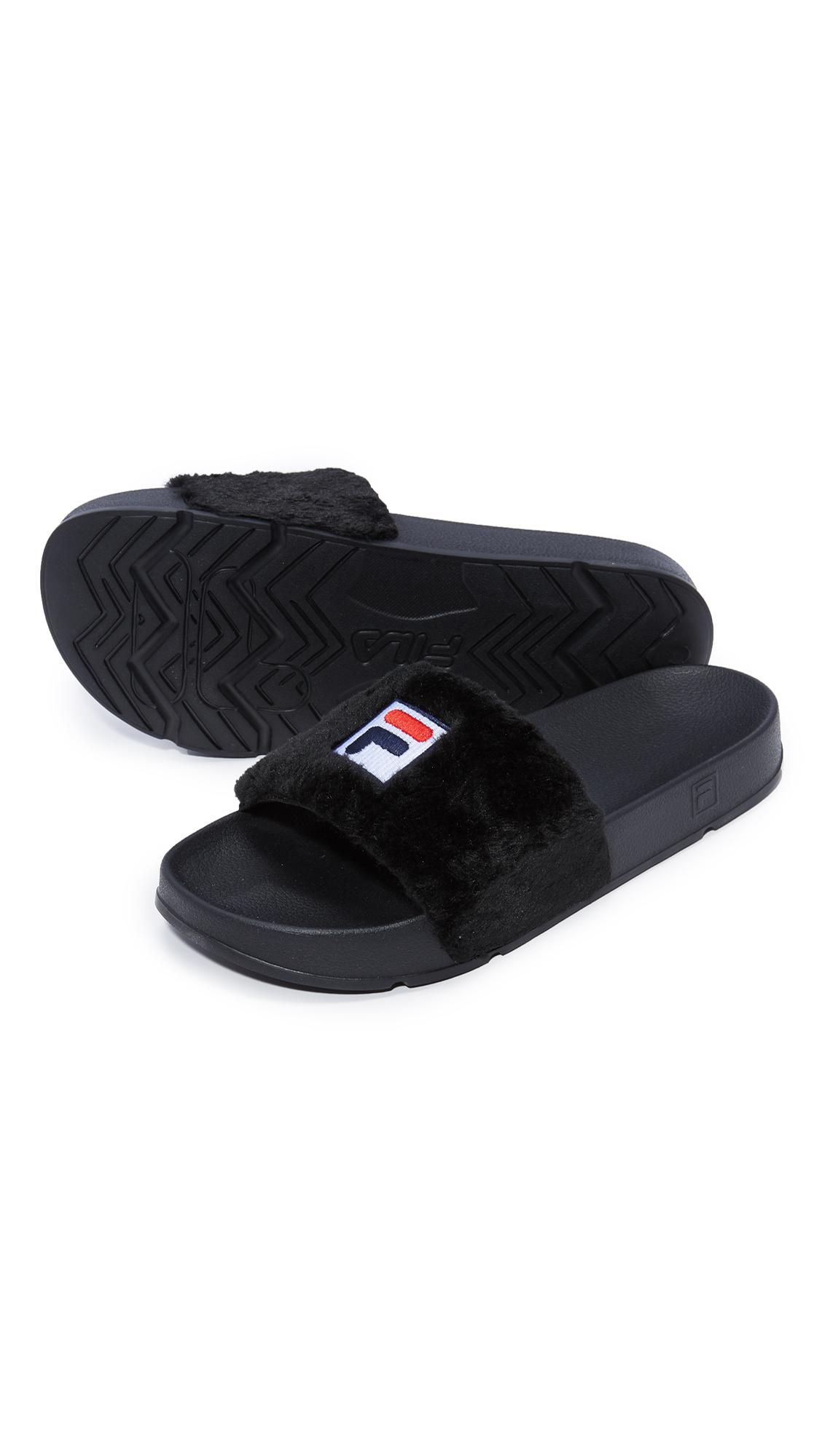 Baja East x FILA Shearling Slide Sandals discount real cheapest price cheap price 4blsUd