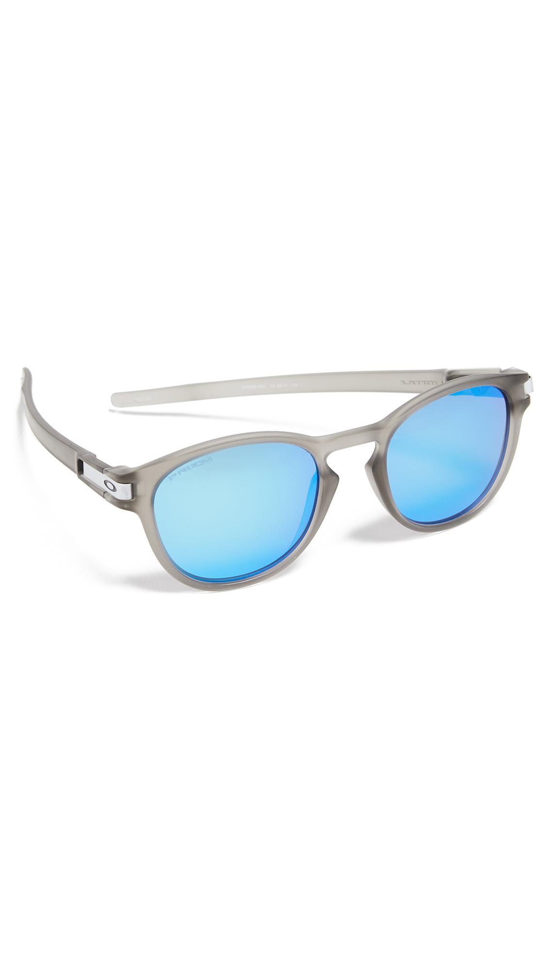 f76247bb7e1 Oakley Latch Prizm Polarized Sunglasses in Blue for Men - Lyst
