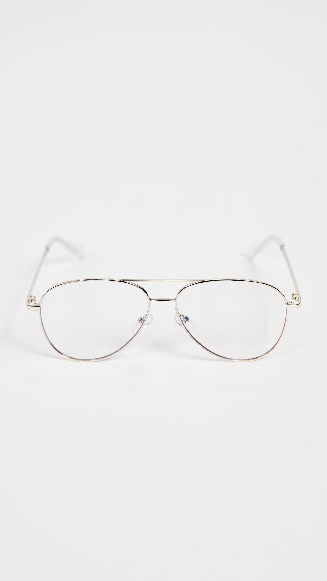 d9e2535e37 Lyst - Quay Still Standing Blue Light Blocker Glasses in Metallic ...