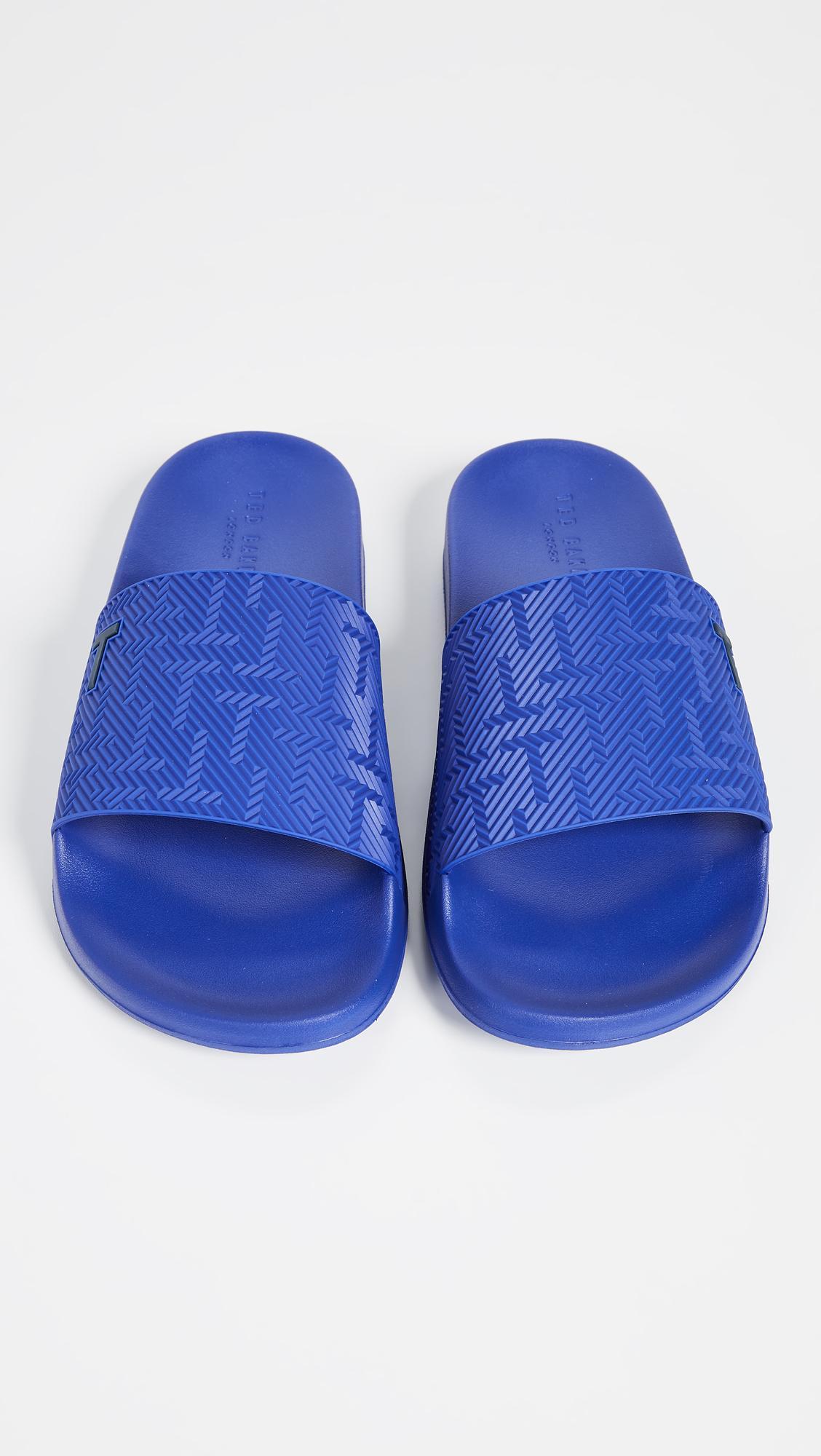 0f2cfced3 Ted Baker - Blue Mastal Slide Sandals for Men - Lyst. View fullscreen