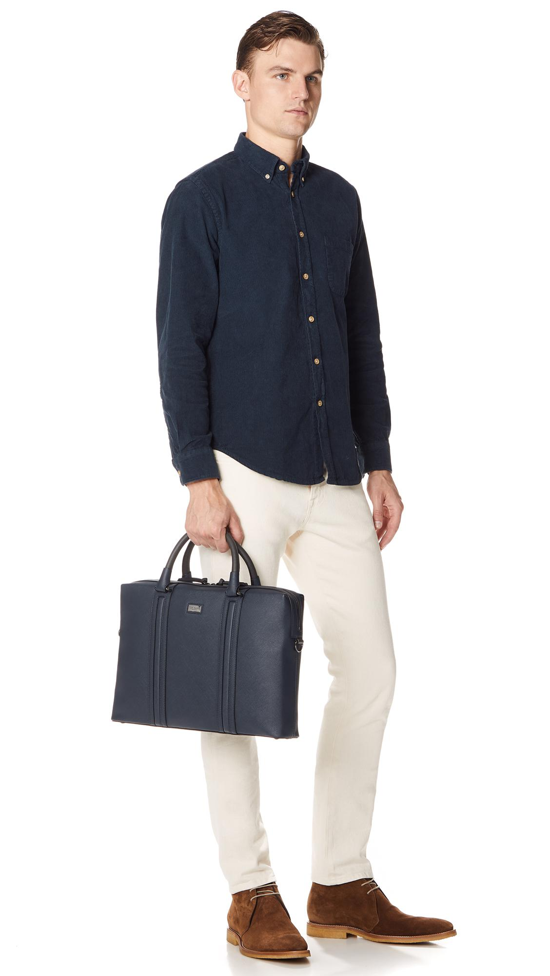 24e1148868 Ted Baker Giiza Briefcase in Blue for Men - Lyst