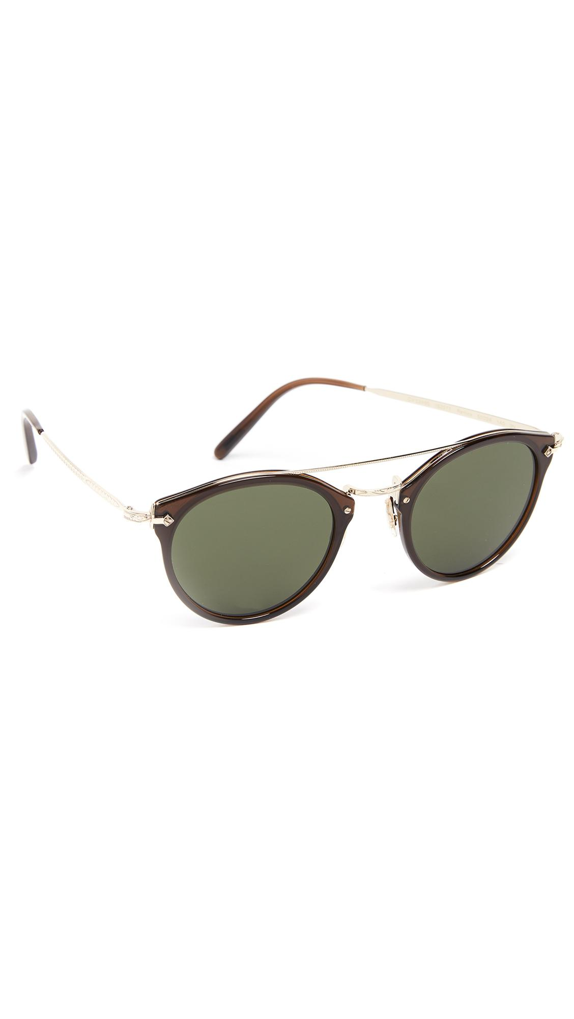 f2ddf78218 Lyst - Oliver Peoples Remick Sunglasses in Green for Men