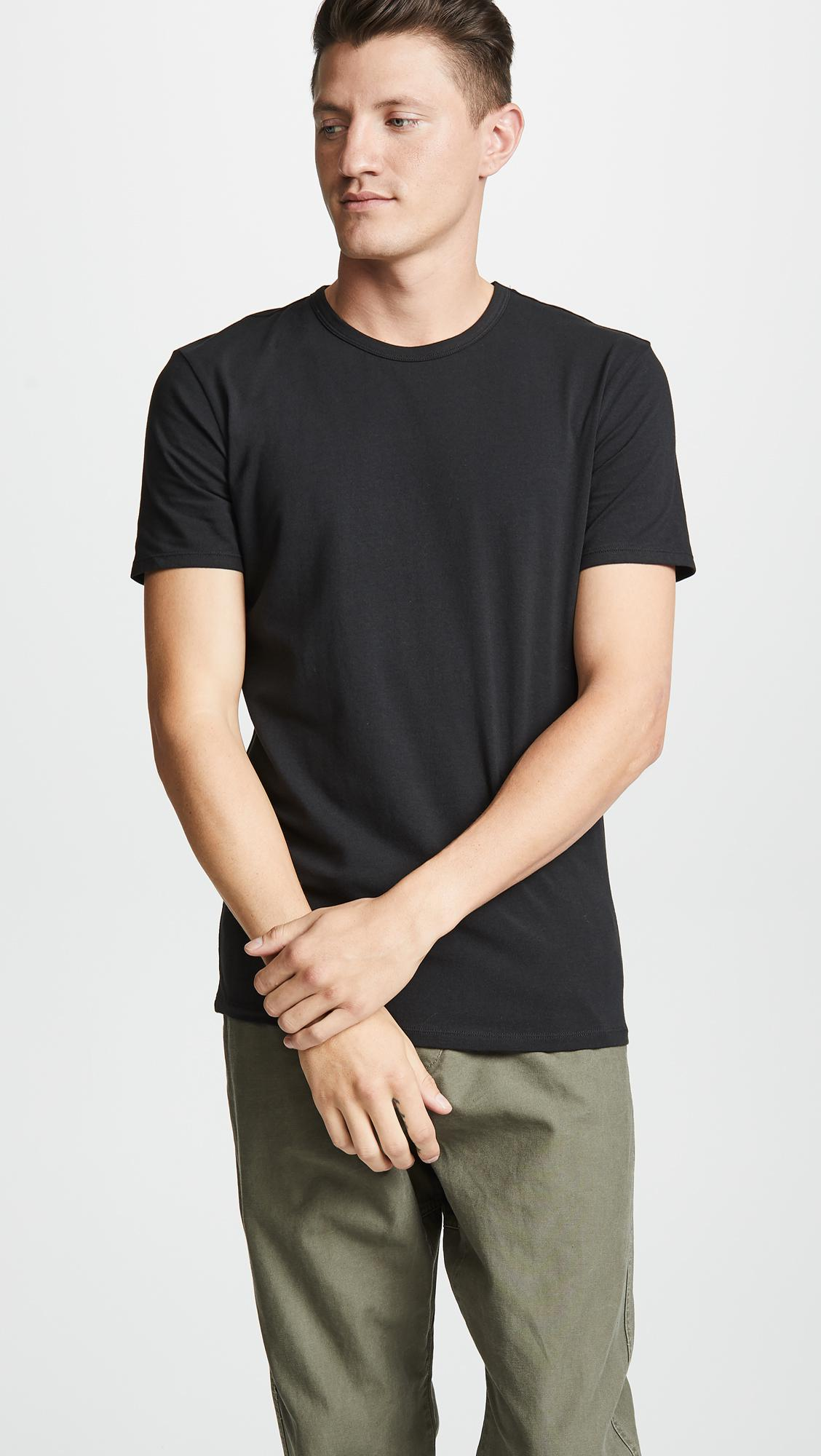 75d6f4362c473a Calvin Klein - Black 2 Pack Cotton Stretch Crew Neck Tee for Men - Lyst.  View fullscreen