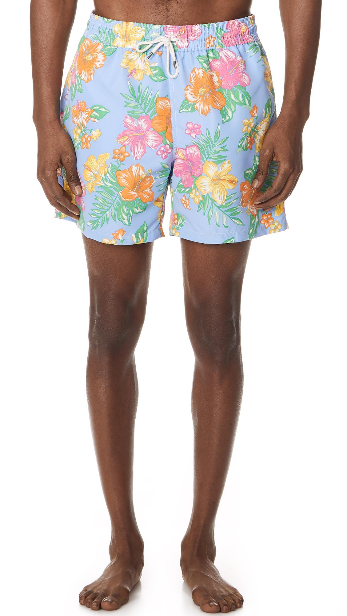 Polo Ralph Lauren. Men\u0027s Hibiscus Traveler Swim Trunks