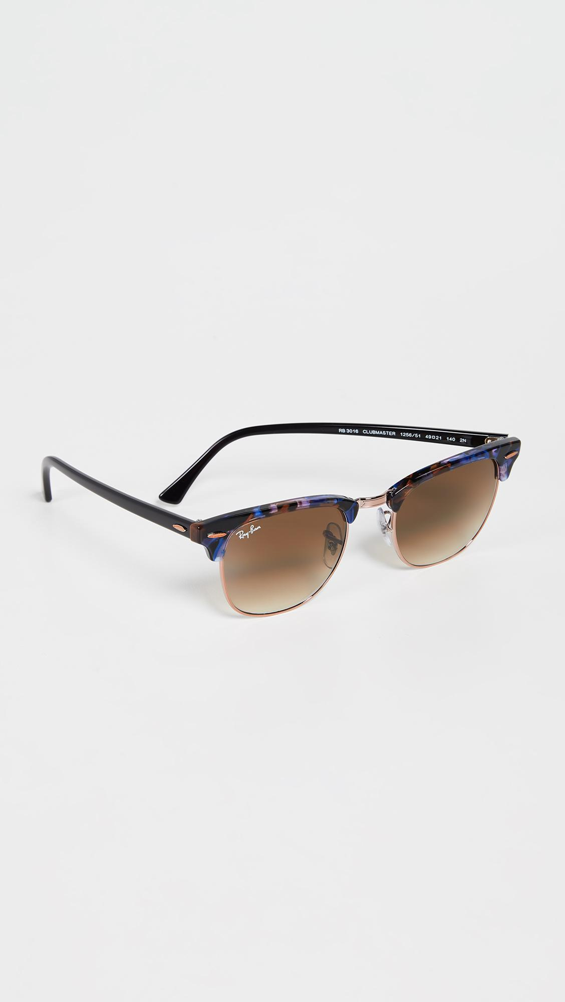 8b47219691 Ray-Ban - Brown Rb3016 Clubmaster Sunglasses for Men - Lyst. View fullscreen