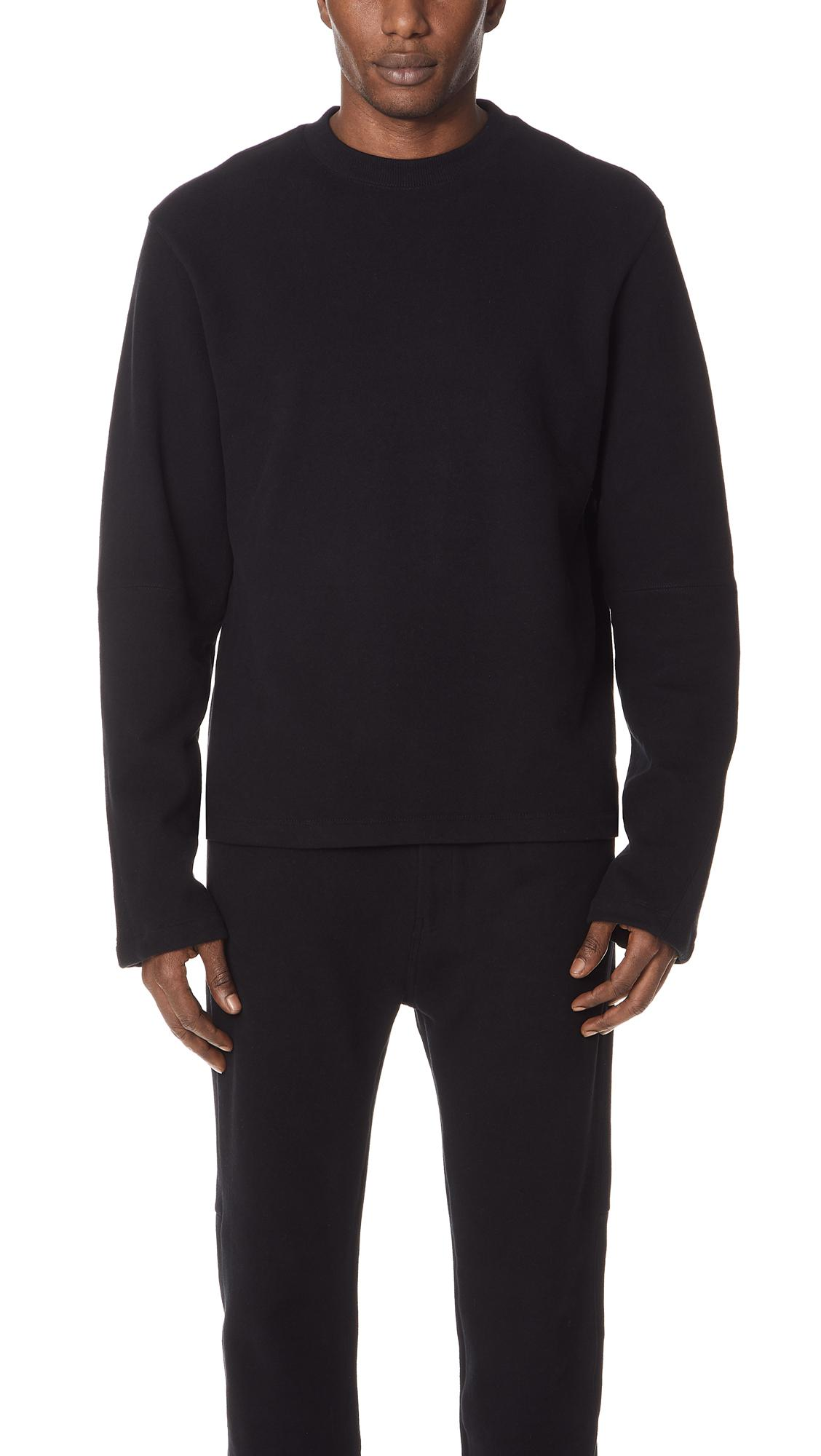 Cheap Limited Edition ribbed detail sweatshirt - Black Helmut Lang Official Online Recommend Cheap New For Sale Discount Codes Clearance Store C36fzG