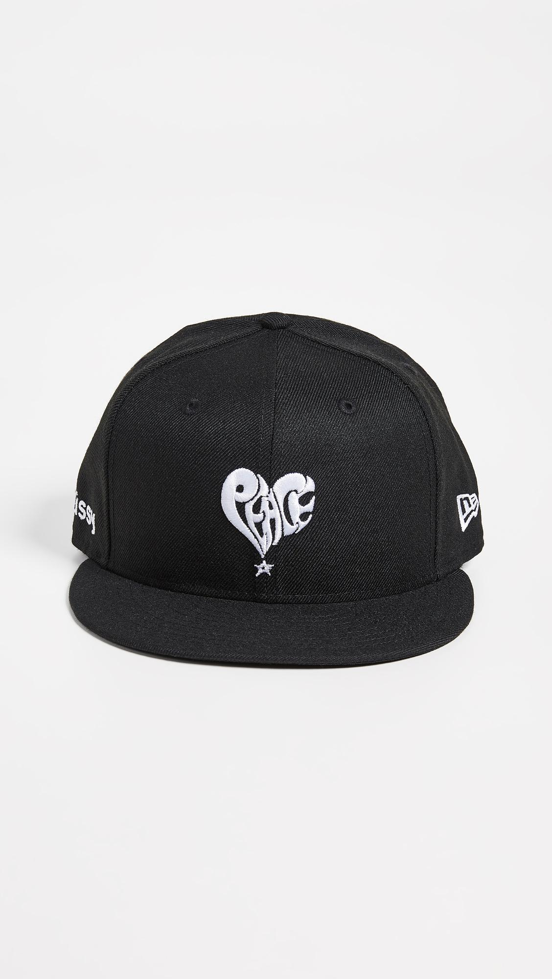 Lyst - Stussy Peace New Era Cap in Black for Men 37b780a1f7fc