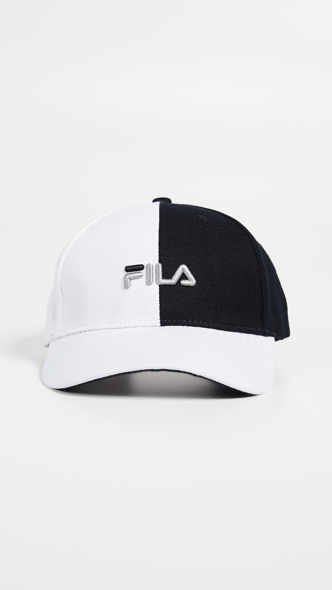 88c626a73b8 Lyst - Fila Color Block Hat in Black for Men