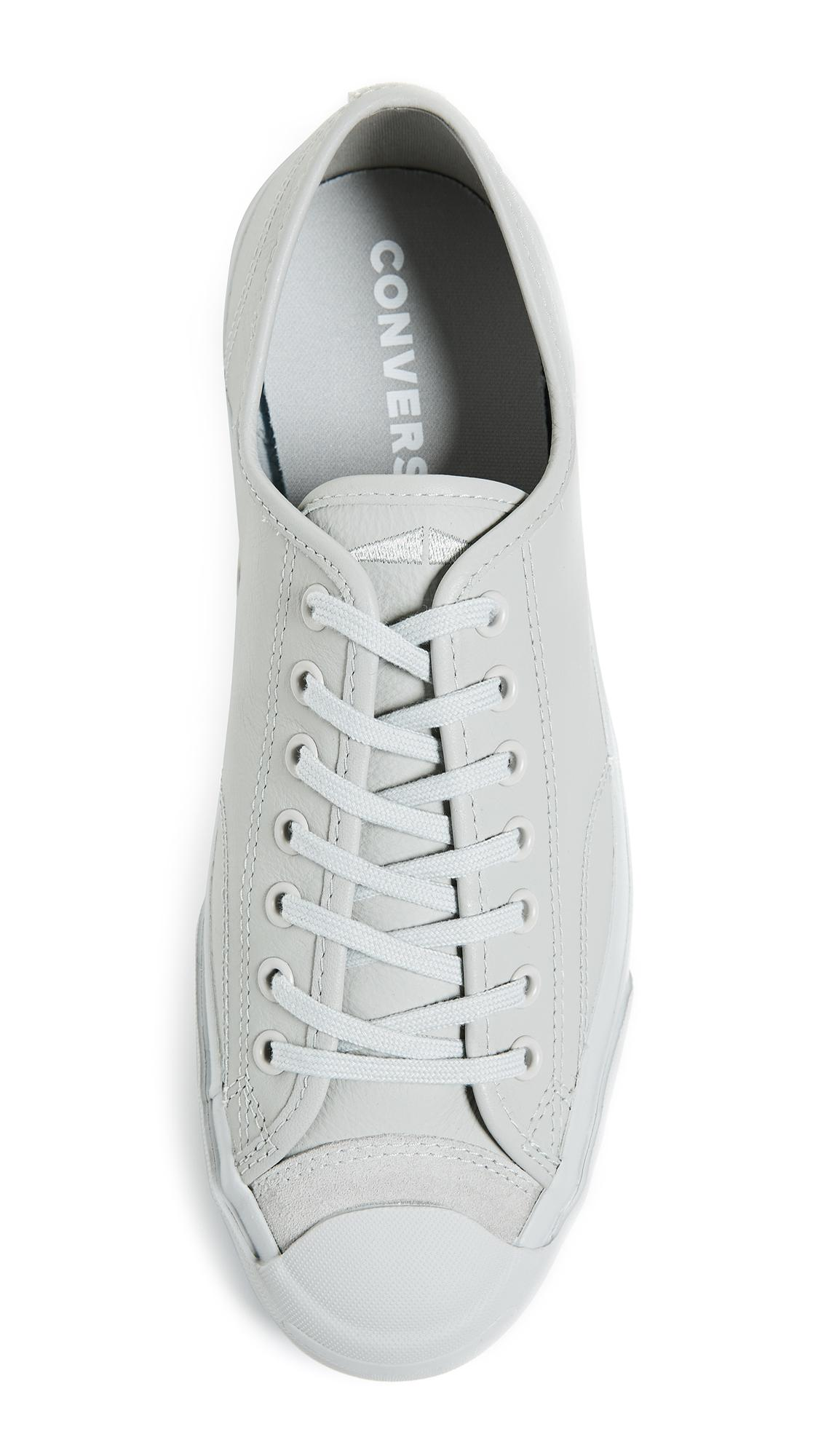 Converse Gray Jack Purcell Ox Leather Sneakers for Men Lyst