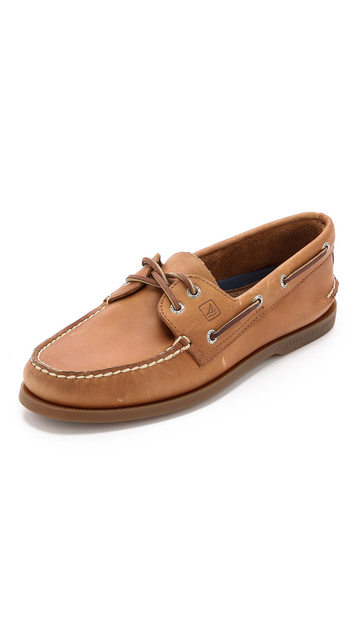 Sperry Men S Boat Shoes Dark Tan Sale
