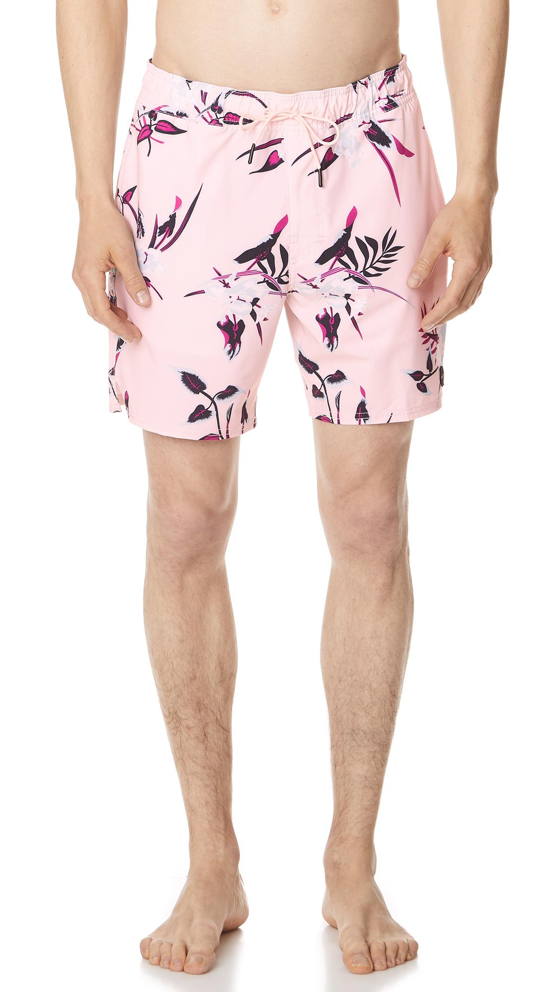 a4d863cccd RVCA Middle Elastic Trunks in Pink for Men - Lyst