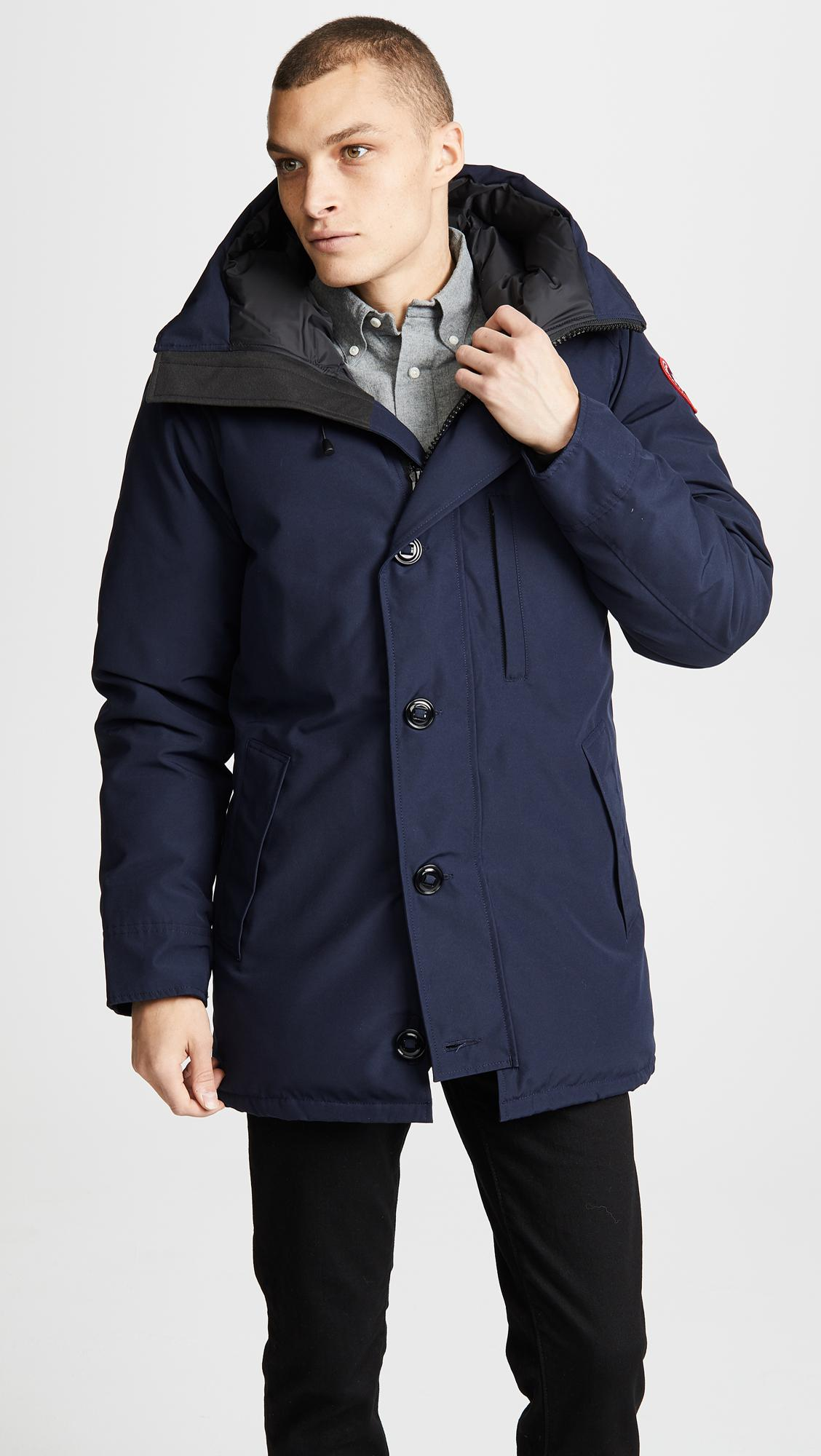 0c590fd044d Lyst - Canada Goose Chateau Parka in Blue for Men