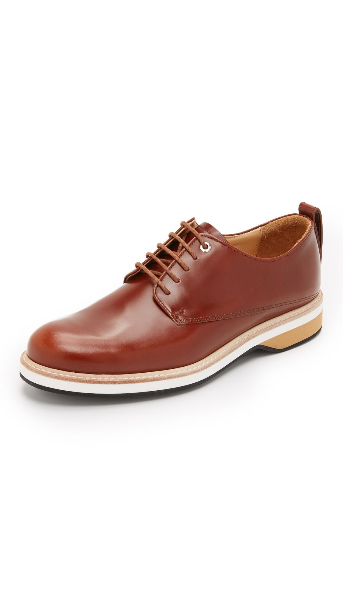 Want Les Essentiels De La Vie Mens Brown Montoro Leather Derby Shoes
