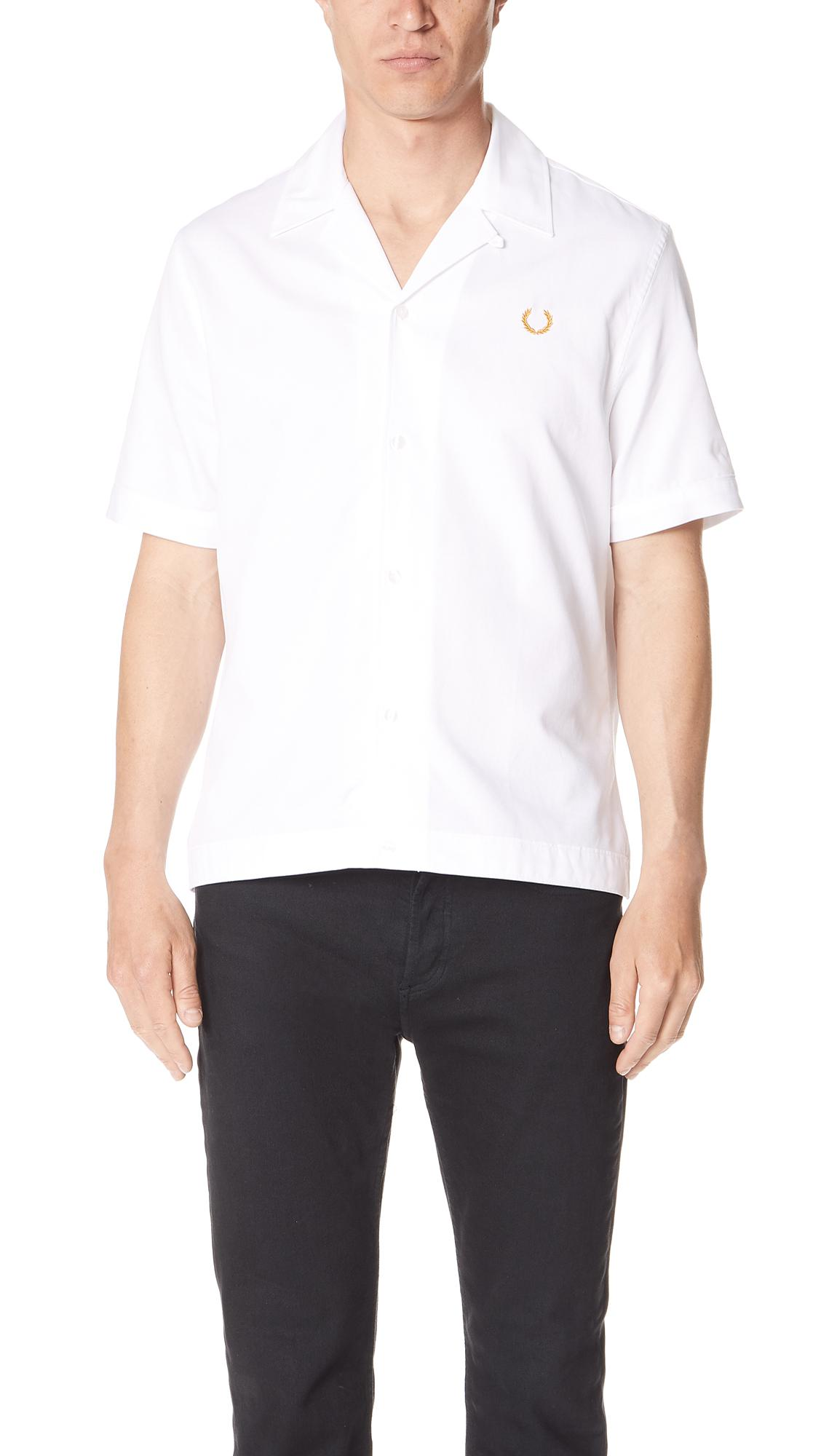 e0272df37 Fred Perry Miles Kane Bowling Shirt in White for Men - Lyst