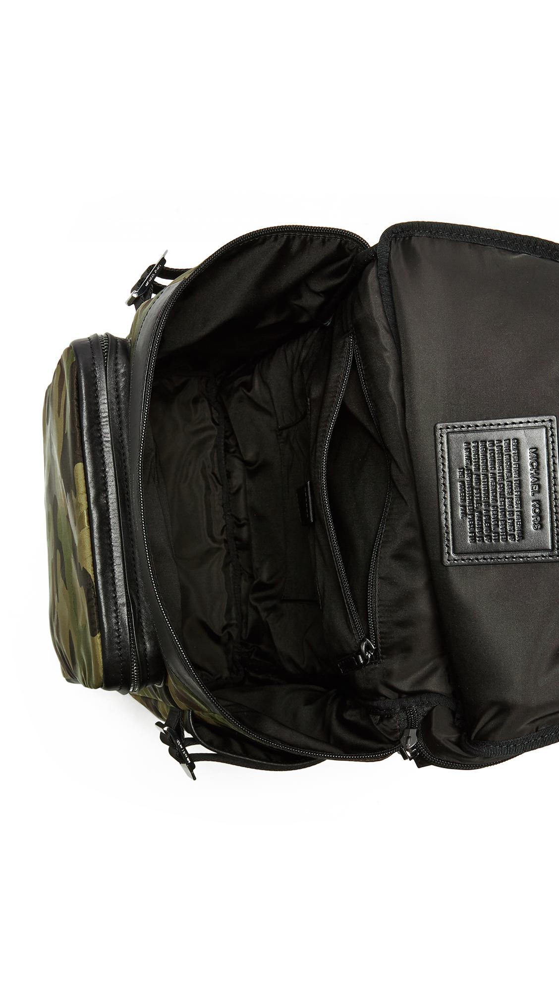 de30e2a5c52e Michael Kors Kent Camo Nylon Cycling Backpack in Black for Men - Lyst