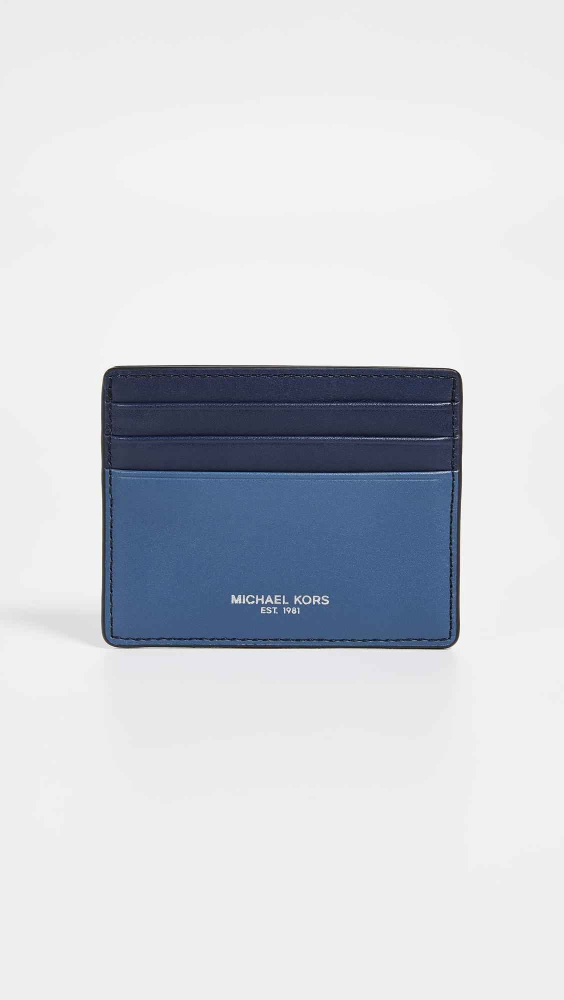 4cc8ab305fcd Lyst - Michael Kors Henry Tall Card Case in Blue for Men