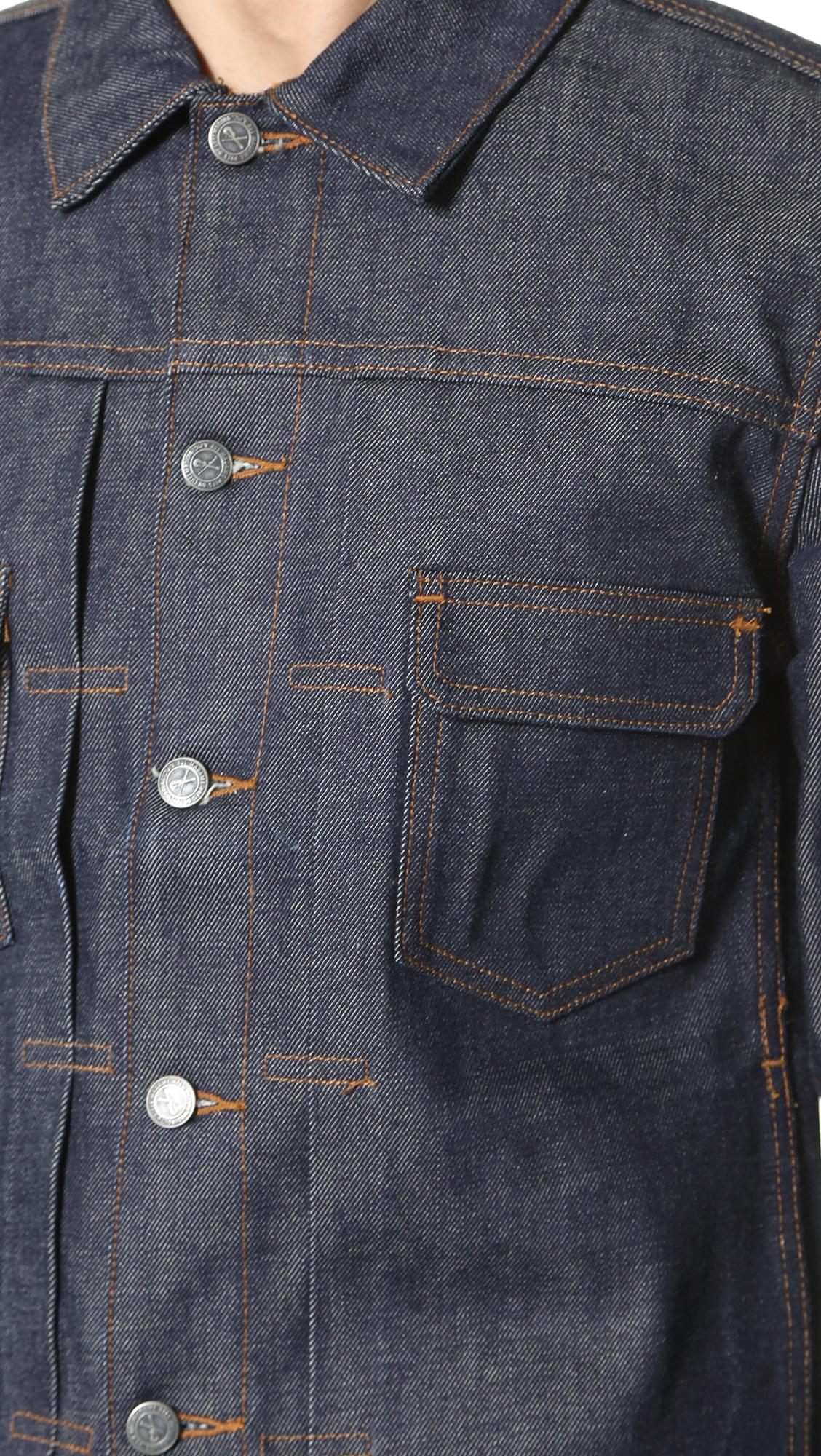 e471ee1bb4 Lyst - A.P.C. Raw Denim Work Jacket in Blue for Men