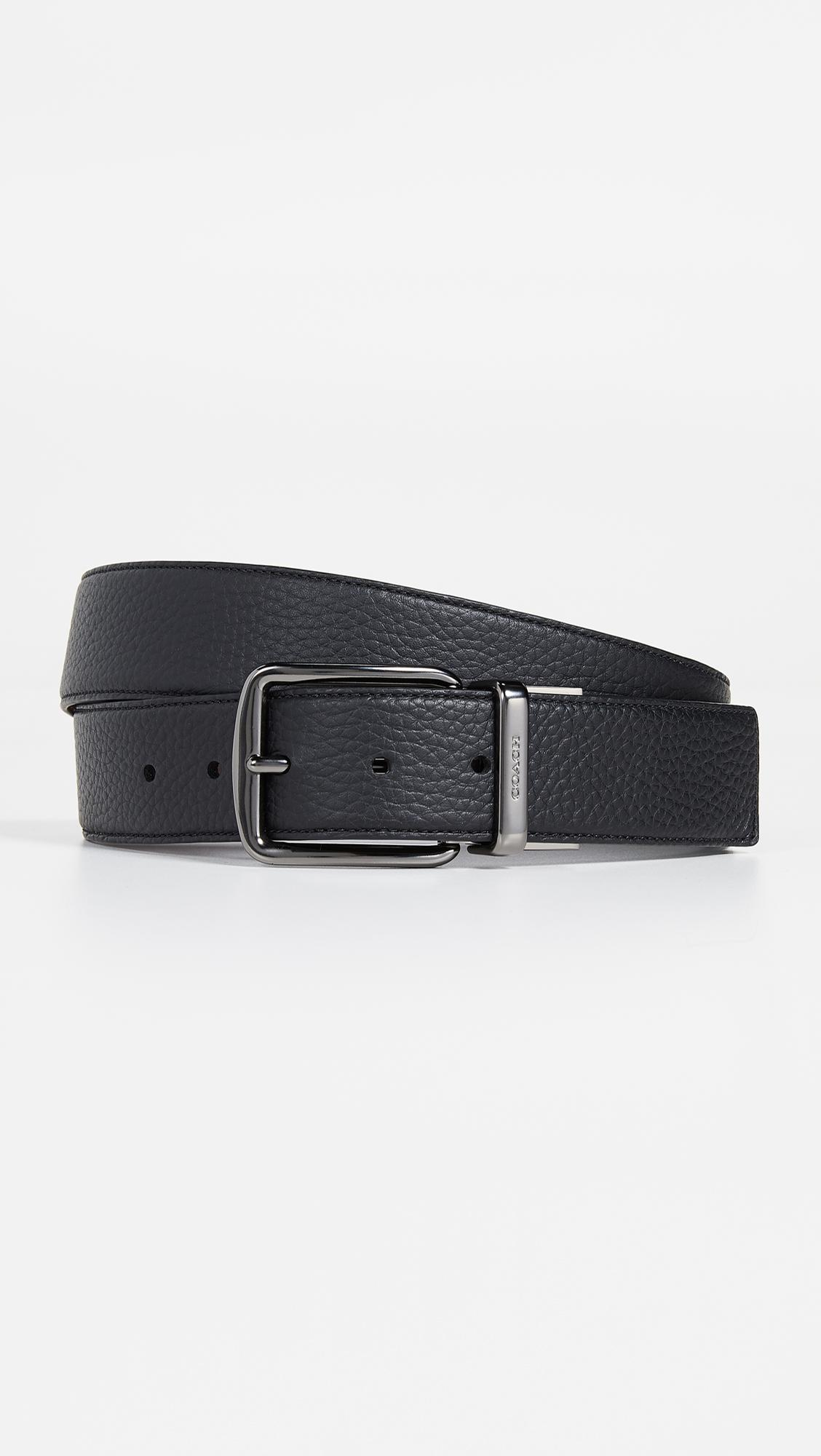bad656fd4744 Lyst - COACH Wide Leather Belt in Black for Men