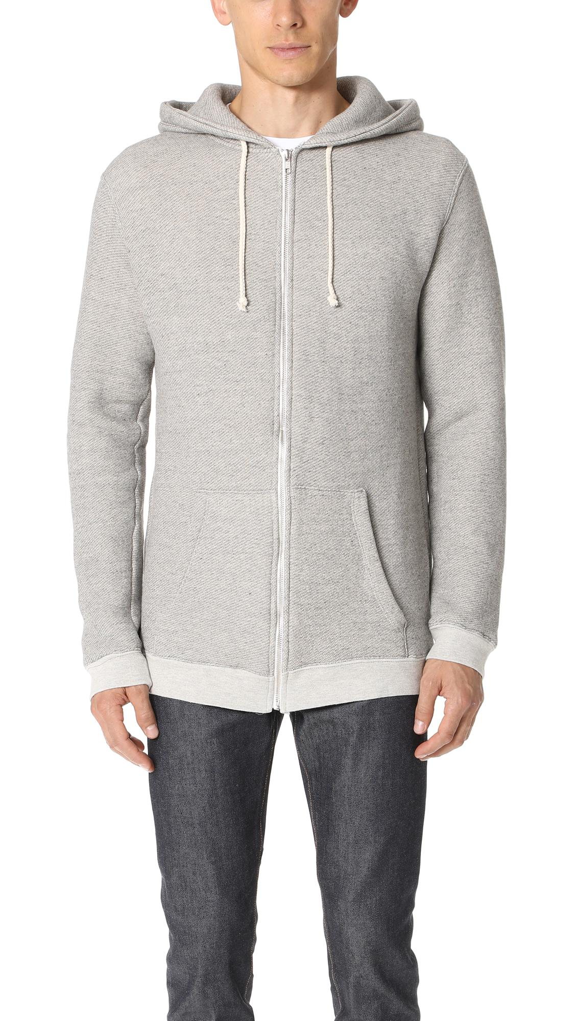 Lyst - Mollusk Zip Hoodie in Gray for Men