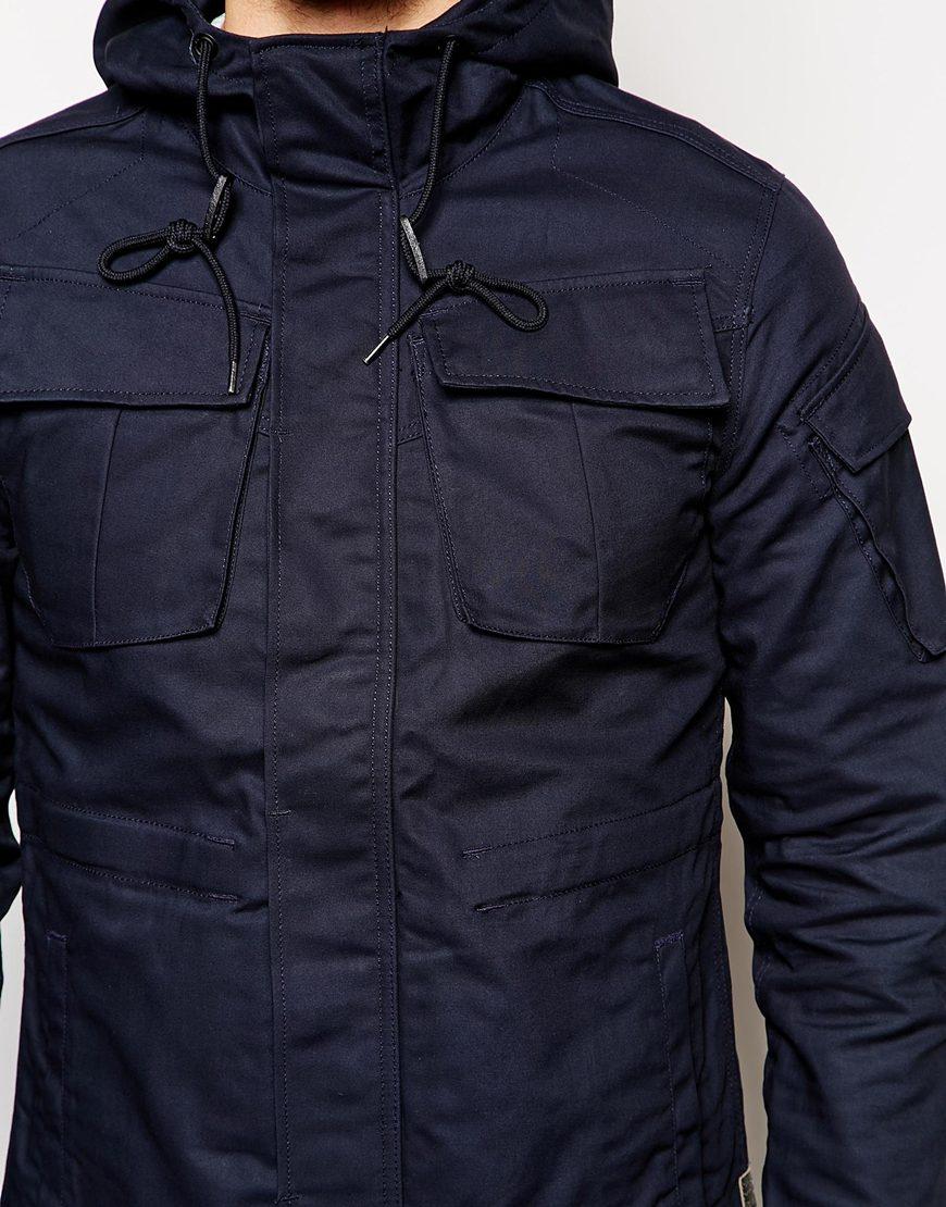 lyst g star raw jacket in blue for men. Black Bedroom Furniture Sets. Home Design Ideas