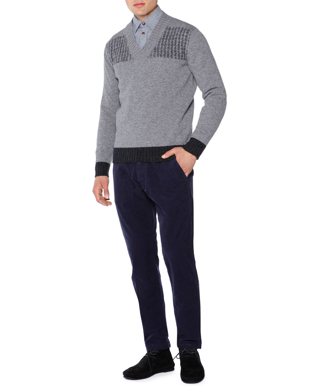 Tomas maier Soft Corduroy Pants in Blue for Men | Lyst