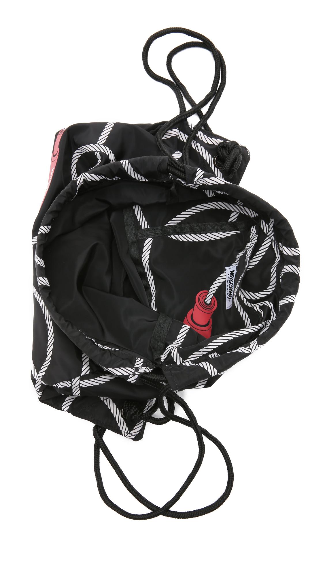 Lyst Moschino Gym Bag Black In Black