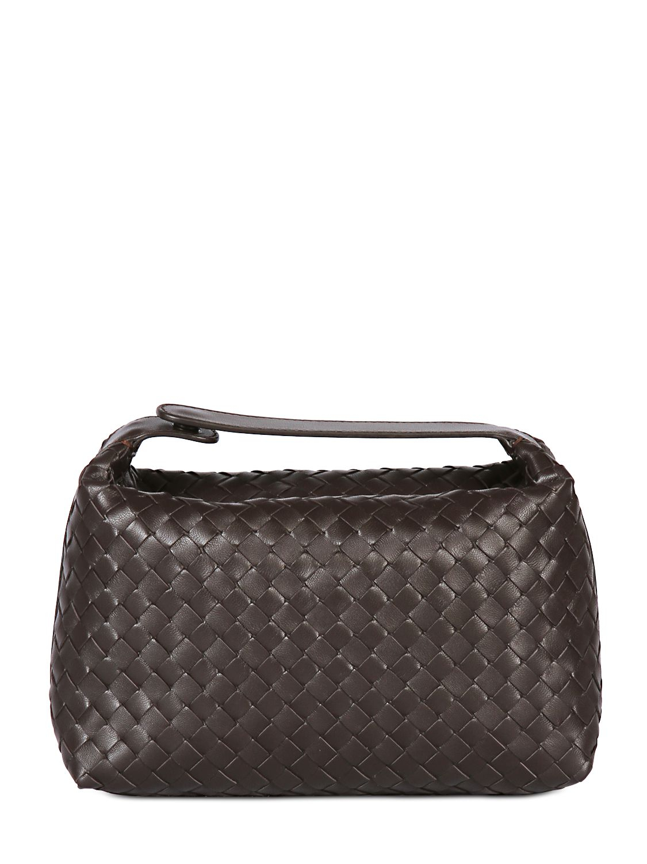 Bottega Veneta Intrecciato Nappa Leather Make-up Bag in Black - Lyst 7539cd1e5a92f