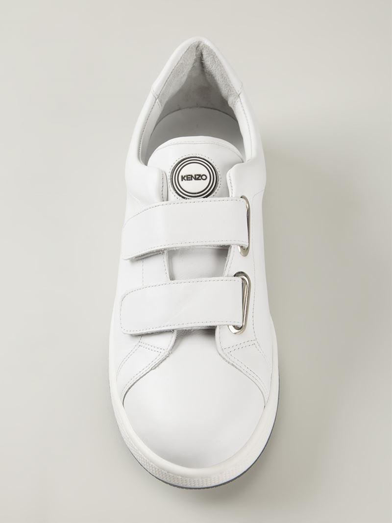 c493ddd0f2fa Lyst - KENZO Velcro Straps Sneakers in White