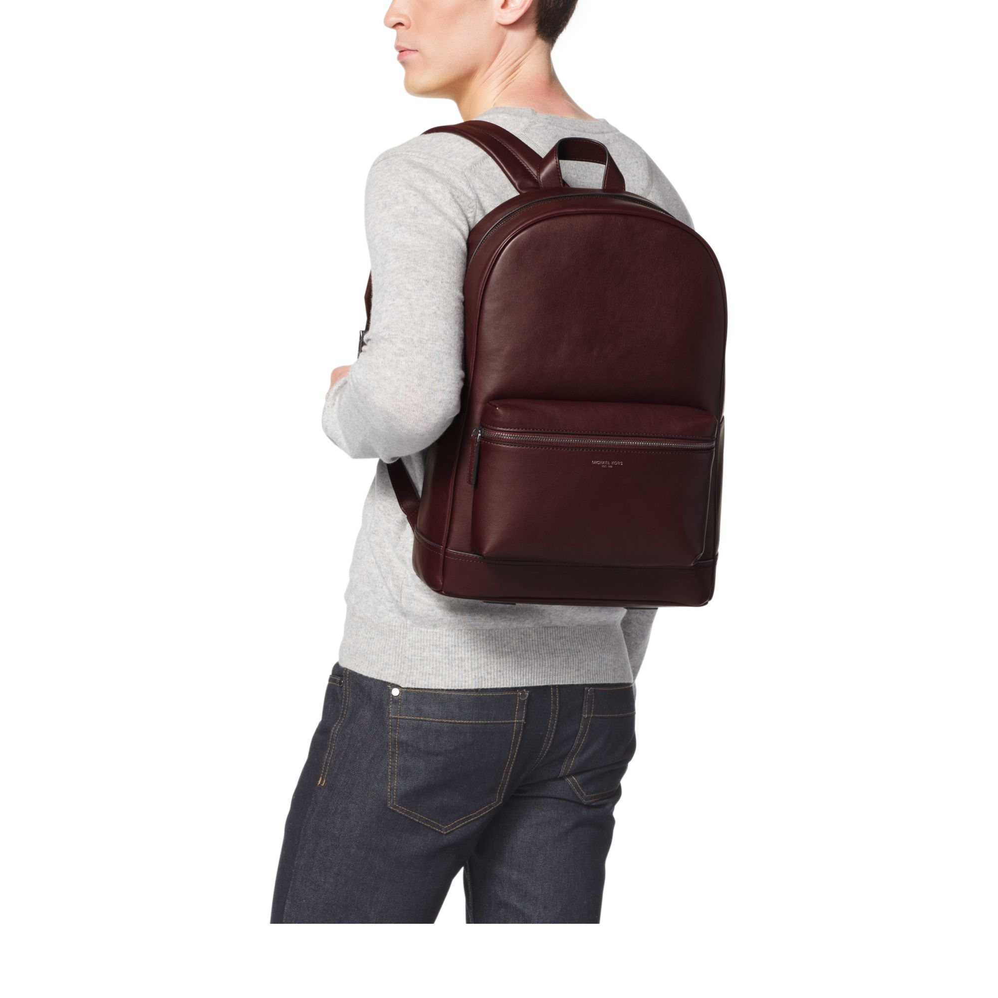 61aea060782f1 Lyst - Michael Kors Dylan Leather Backpack in Purple for Men