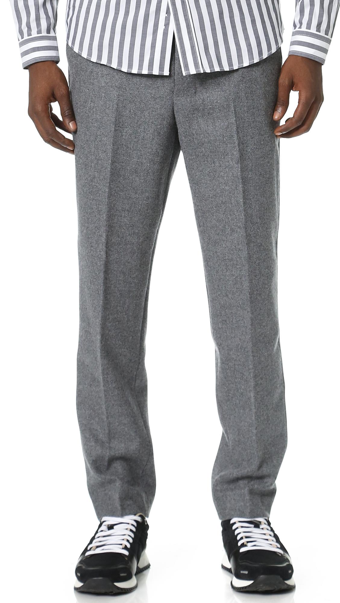 Mens Wool Gauze Trousers Ami hlypS