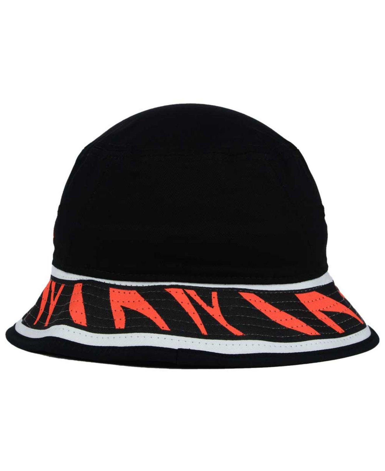 Lyst - Ktz Cincinnati Bengals Team Stripe Bucket Hat in Black for Men a4cac8260