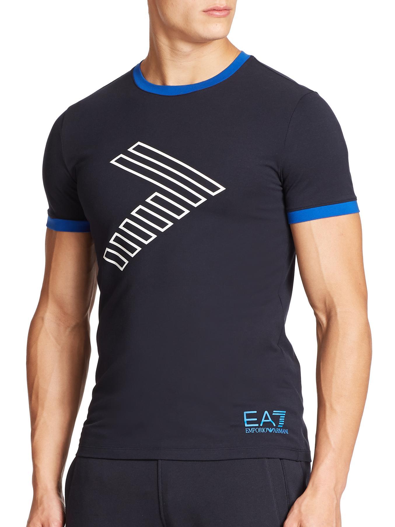 Clothes Ringer 2015 ~ Ea ringer crewneck tee in blue for men lyst