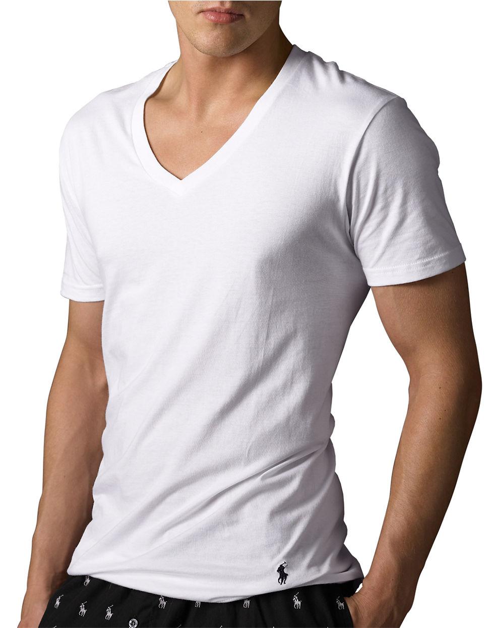 Polo Ralph Lauren Classic Cotton V Neck T Shirt Set In
