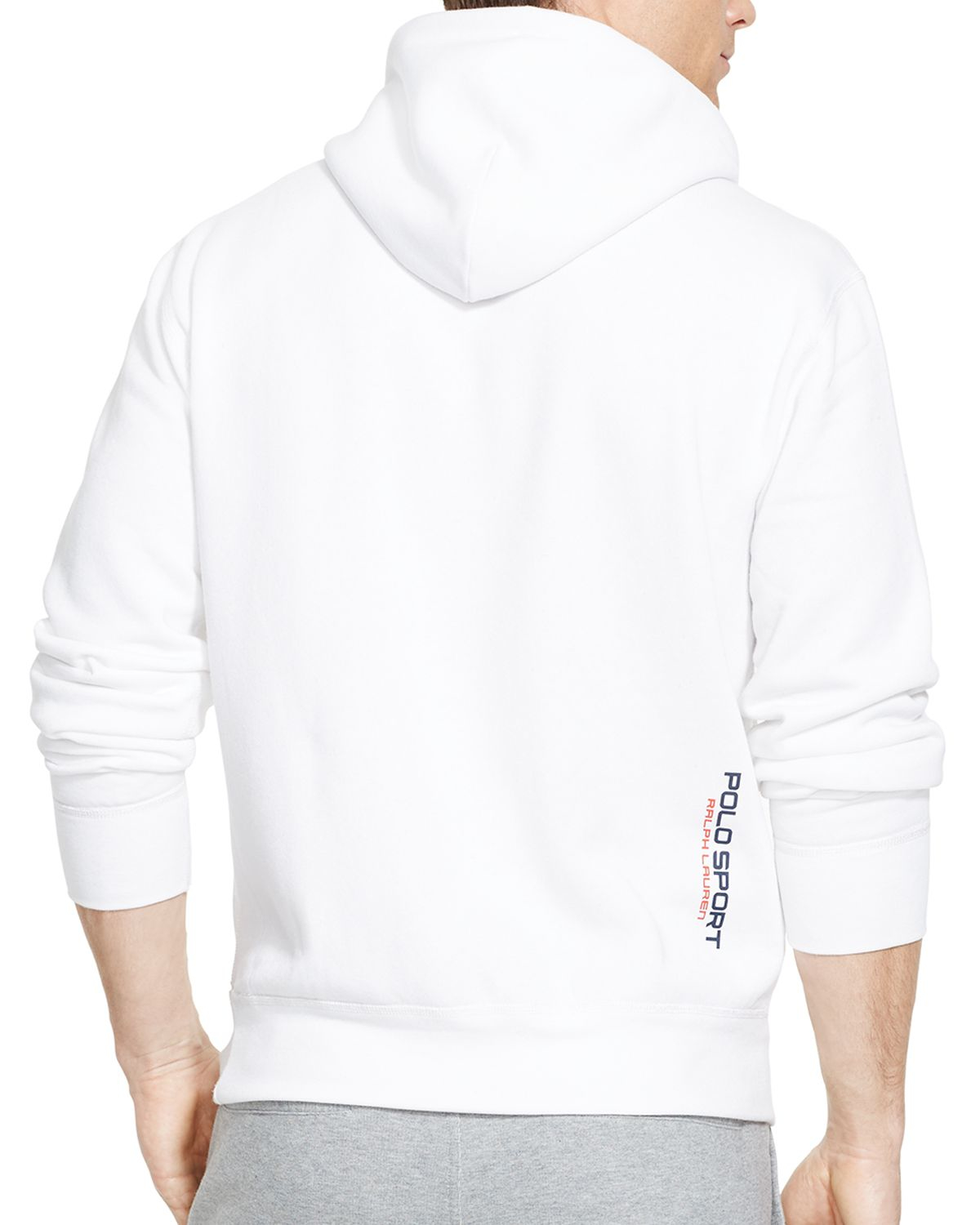 Ralph lauren Polo Sport Fleece Pullover Hoodie in White for Men | Lyst