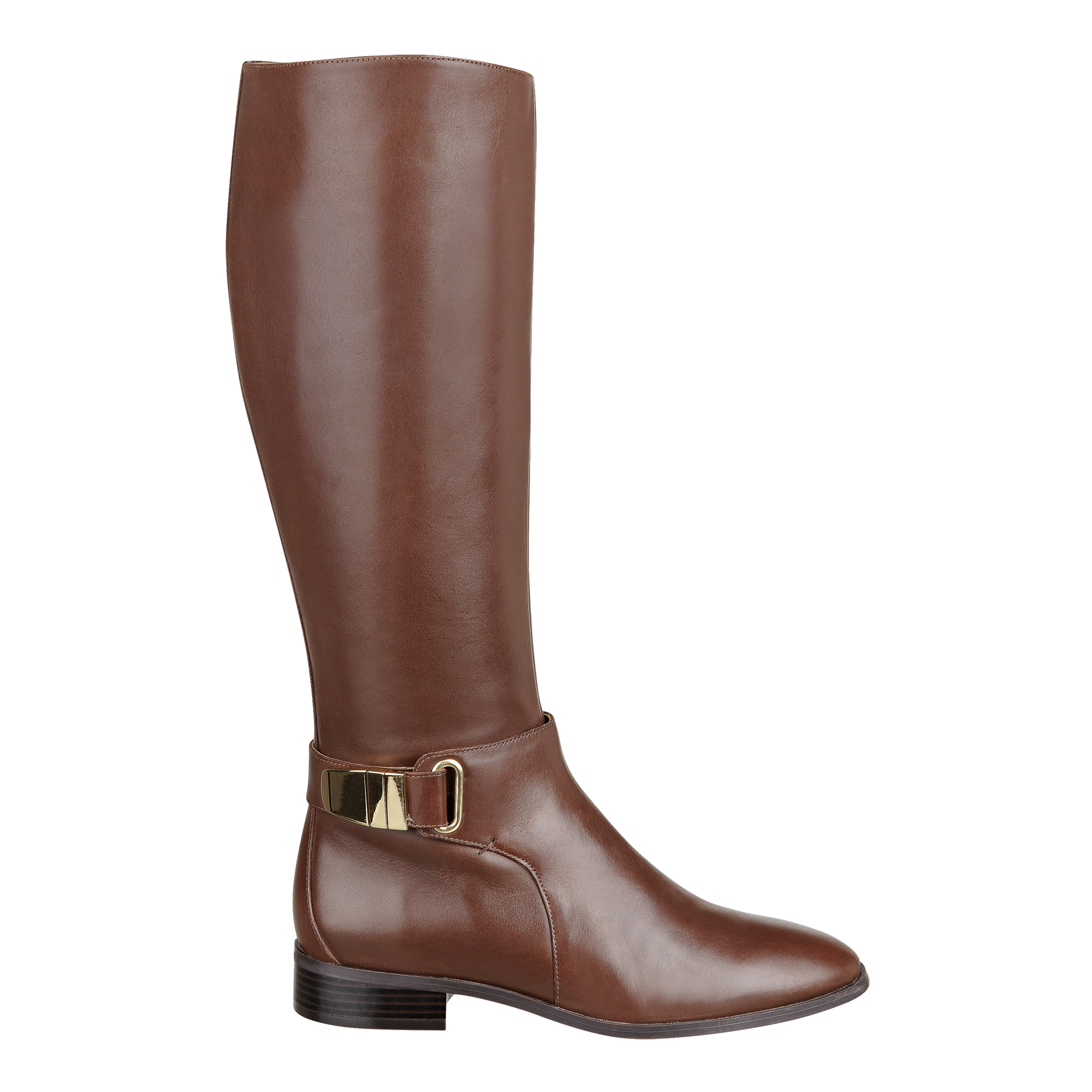 nine west hailene leather boots in brown