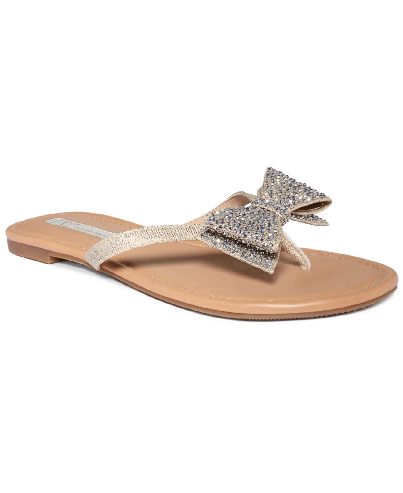 1f40560055371 Lyst - INC International Concepts Womens Maey Bow Thong Sandals in ...