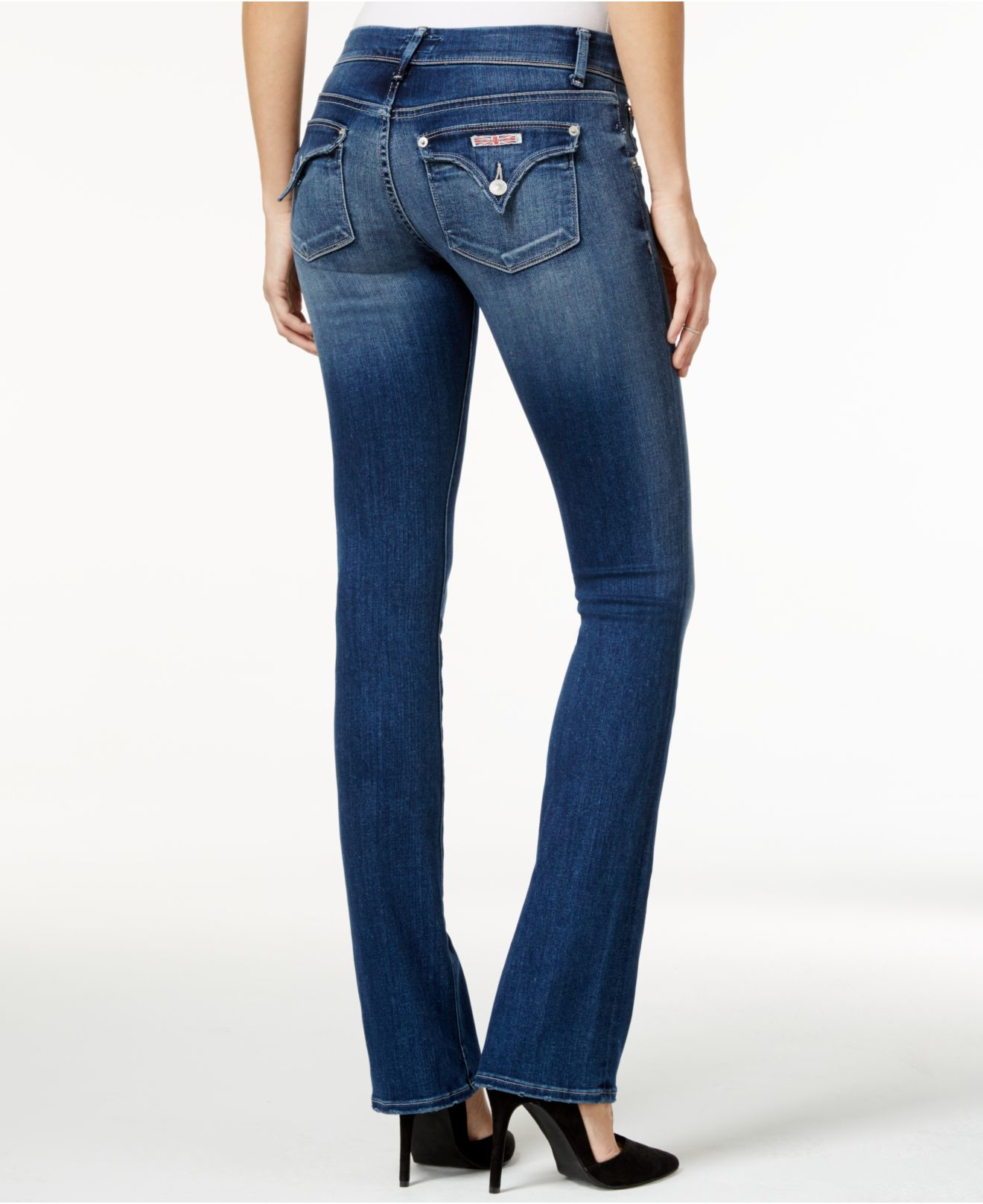 Womens Mid Rise Skinny Jeans