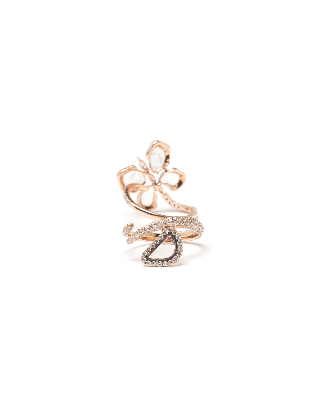 Saqqara 18kt Rose Gold Sliced Diamond Long Ring tFLio
