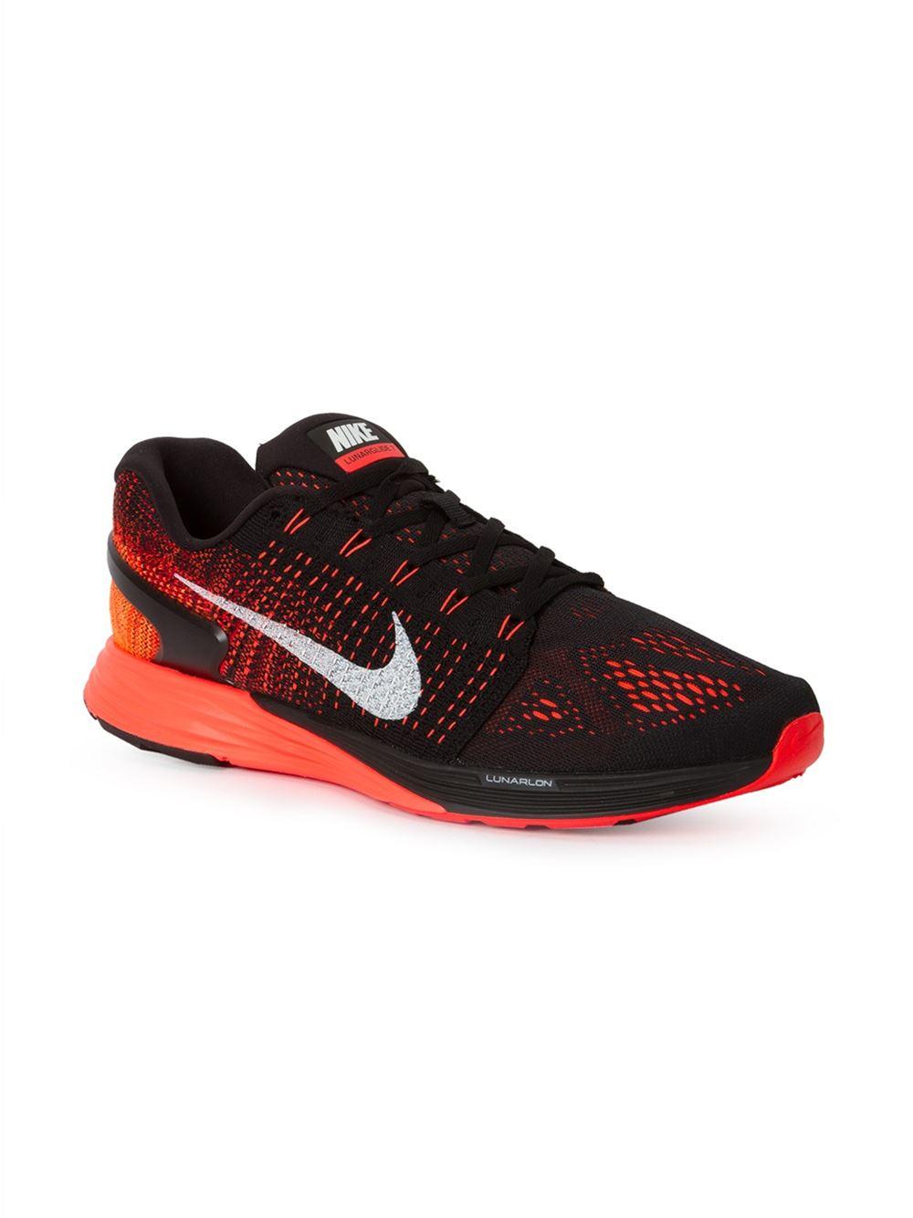 nike lunarglide 7 running sneakers in red for men lyst. Black Bedroom Furniture Sets. Home Design Ideas