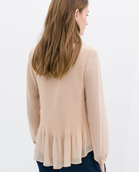 Zara Pleated Blouse 10