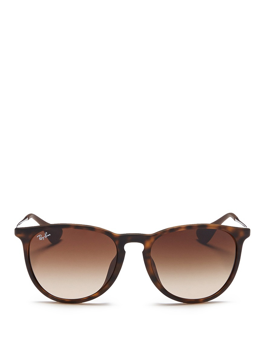 Ray Ban Erika Matte Acetate Frame Wire Temple Sunglasses
