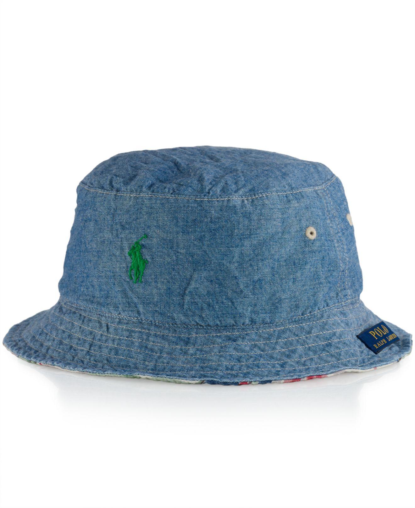 8c82ef2c978 Polo Bucket Hat Polo ralph lauren Reversible Bucket Hat in Blue for Men