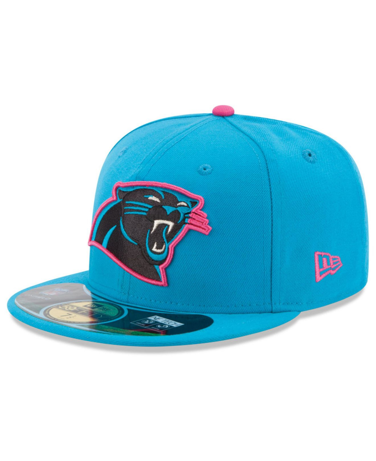 Lyst - KTZ Carolina Panthers Breast Cancer Awareness 59Fifty Cap in Blue  for Men ff195b962
