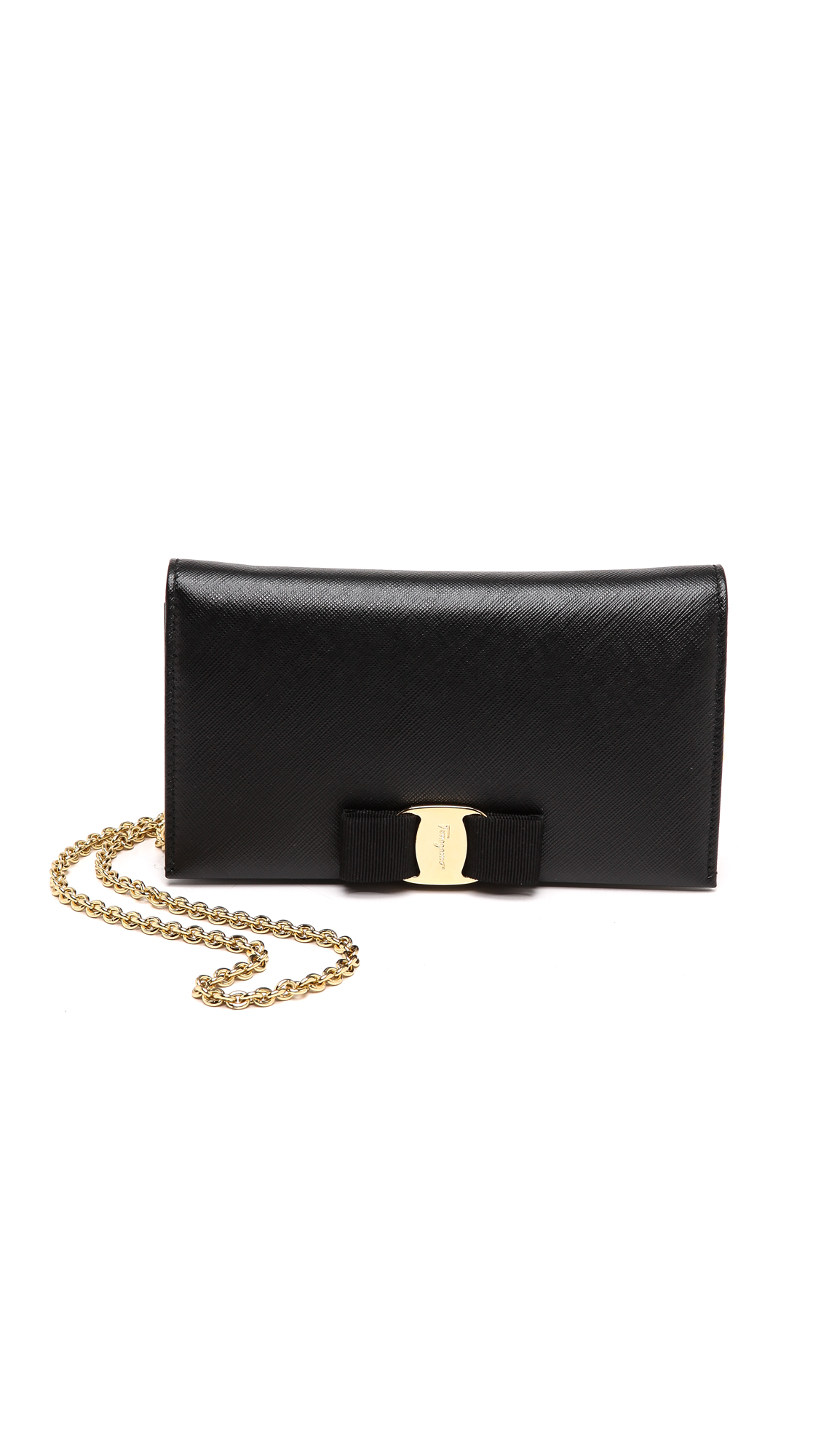 45f9253f2542 Ferragamo Miss Vara Wallet On A Chain Nero in Black (Nero) | Lyst