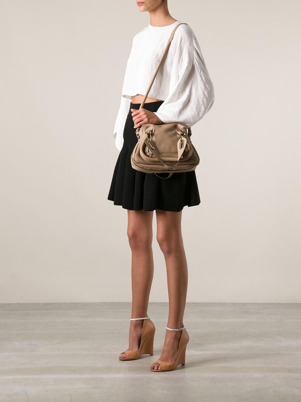 Chlo¨¦ Paraty Medium Shoulder Bag in Brown | Lyst